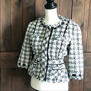 Anthropologie Elevenses tweed blazer size 8
